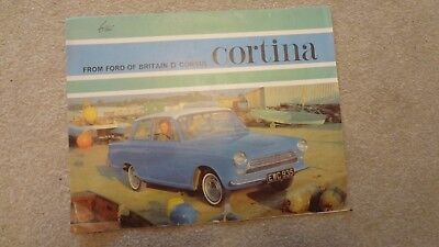 1963 Ford Consul Cortina  Full Colour Fold Out Sales Brochure