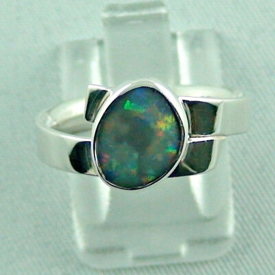 Sterling Silberring mit Top Semi Black Opal 0,93 ct