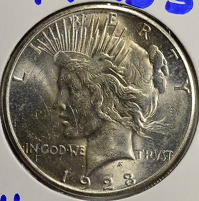 1923-S $1 Peace Silver Dollar Brilliant Uncirculated
