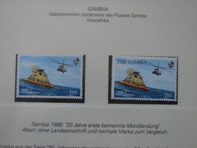 (BN20) ERROR GAMBIA 1990 20th anniversary first manned moon landing  SEE PHOTOS