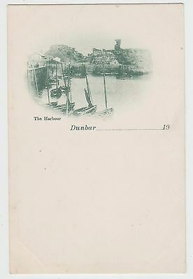 Dunbar Harbour, Old Vignette View, U/B PPC, Publ.Unknown~1900 Vintage, VG Unused