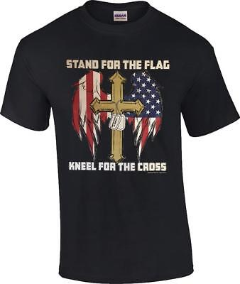 Stand For The Flag Kneel For The Cross Patriotic Christian NFL T-Shirt