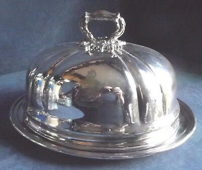 "SUPERB Large 10"" ~ Family CRESTED ~ SERVING Dish & COVER ~ c1875 by ELKINGTON"