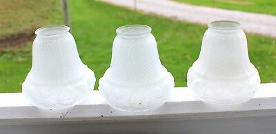 Vintage,Antique Frosted Glass Shades,Set of 3,Globes