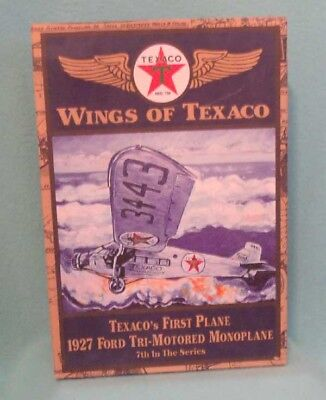 Wings of Texaco 1927 Ford Tri-Motored Monoplane Die Cast Bank- 7th in Series
