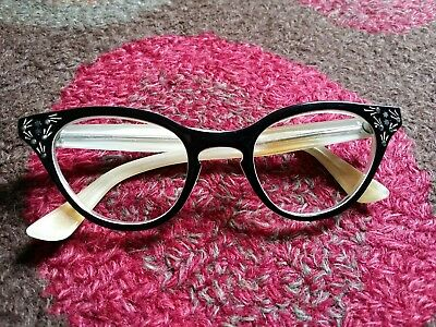 Vintage Classic Kitsch 50's Original Cat eye Reading Spectacles SunGlasses Frame