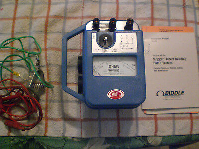 Biddle Instruments.  Megger Direct Reading Earth Tester. 250260.