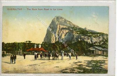 (Gb1121-477) The Rock from Road to la Linea, Gibraltar c1910 VG-EX