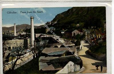 (Gb1125-477) Town from the South, Gibraltar 1924 VG+
