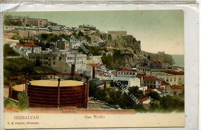 (Gb1191-477) Gas Works, Gibraltar c1905 VG-EX