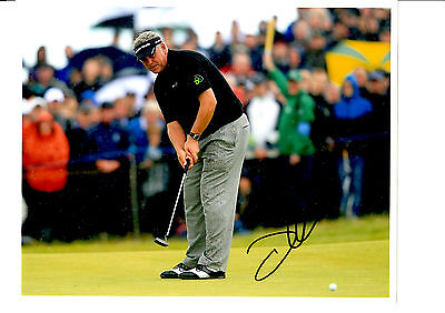 Darren Clarke Hand Signed Golf Photograph Unframed + Photo Proof C.o.a