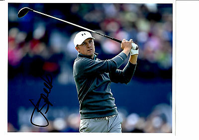 Jordan Spieth Hand Signed Action Photograph Unframed + Photo Proof C.o.a