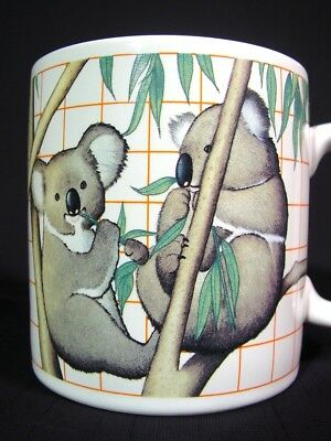 Vintage World Wldlife Fund WWF Koala Bears Coffee Mug by Applause