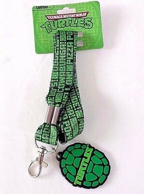 Teenage mutant ninja turtles shell lanyard keychain new