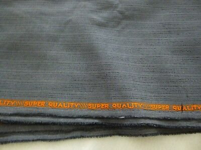 """Super Quality"" silk polyester blend?fabric-gray/ black stripe-2 yds 17""x 60"""