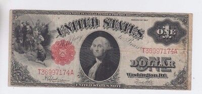 Legal Tender $1 1917 one old note fine stains