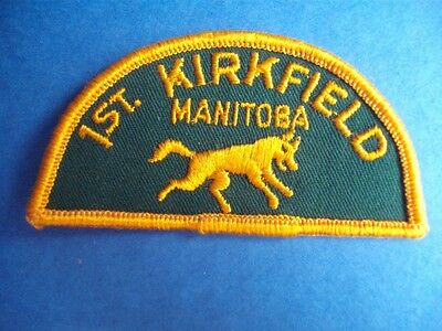 1st KIRKFIELD MANITOBA SCOUTS OF CANADA VINTAGE BADGE PATCH