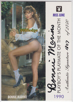 "1996 Playboy Playmate Authentic Auto: Bonnie Marino #/2750 Autograph ""miss June"""