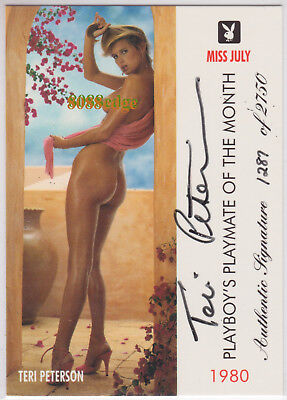 "1996 Playboy Playmate Authentic Auto: Teri Peterson #/2750 Autograph ""miss July"""