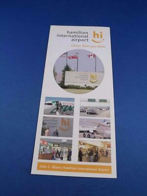 Hamilton International Airport Advertising Flyer Brochure Airplanes Travel