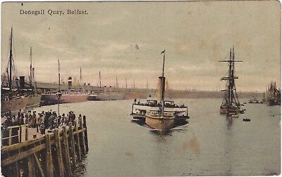 Ireland Ferry Boat Donegall Quay Postcard