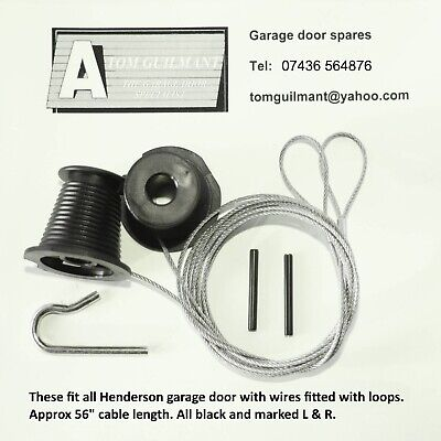 Henderson cone cable set fits Merlin garage doors - cables with loops