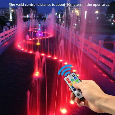 10xSwimming Pool Light RGB LED Remote Control Underwater Color Vase Decor Hot