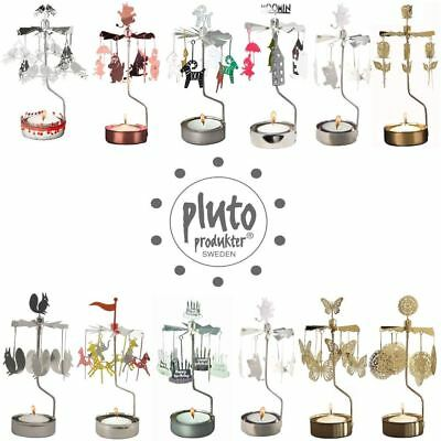 Pluto Produkter Rotary Spinning Candle Tealight Holder - various designs