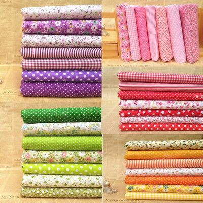 New DIY Assorted Cut Charm Cotton Fabric Quilt Sewing Bundle Square 25*25cm