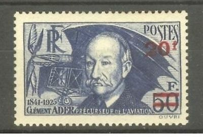 "FRANCE STAMP TIMBRE N° 493 "" CLEMENT ADER , AVION 1941 "" NEUF xx LUXE  A195"