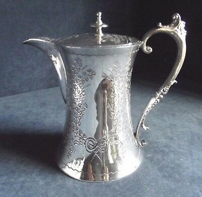 SUPERB Fern ENGRAVED ~ SILVER Plated ~ Water / WINE JUG ~ c1890 by John Batt