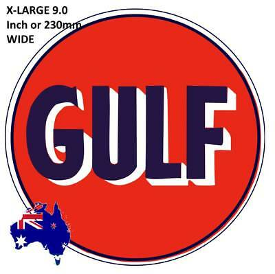 New Vintage Gulf Oil Gasoline  Decal Sticker Large 9.0 Inch  Dia Usa