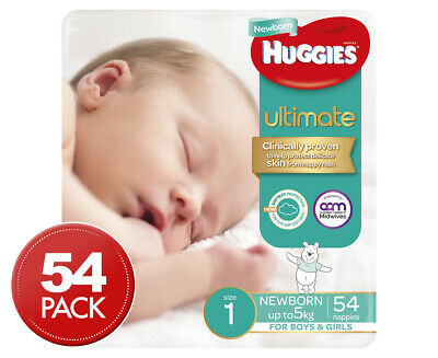 Huggies Ultimate Newborn Nappies 54pk