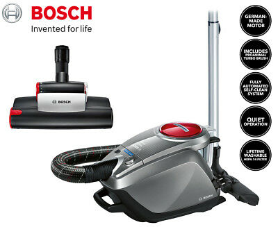 Bosch Relaxx'x ProPerform Bagless Vacuum - Silver/Red/Black