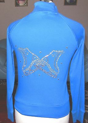 New Glitzy Ice Skating Dress Jacket with Crystal Boots  Motif Age 9-10 Years