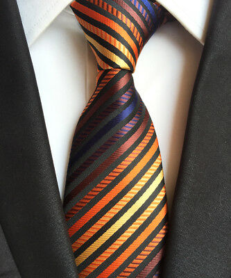Fashion Classic Men's Stripe Style Neck Ties Wedding Party Silk tie gift