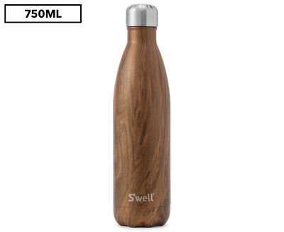 S'well Wood Collection 750mL Insulated Bottle - Teakwood