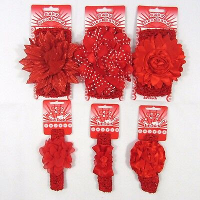 Baby Girls Headband Hair Accessories Red Festive Bow Polka Dot Lace Bowknot NB