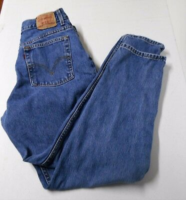 Levis 550 Relaxed Fit Tapered Leg Denim Blue Jeans Sz 14 M Classic Rise   8999