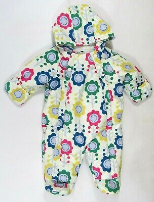 Baby Babies Boys Girls Pram Suit Flower Colourful Snowsuit All In One Cream 3 9