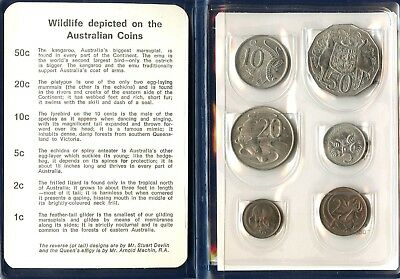 Australia ~ 1969 ~ Wildlife ~ 6 Coin ~ Mint Set ~ Bu