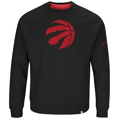 Toronto Raptors Full Sleeve Crew Neck Team Back Up Sweatshirt Majestic Medium