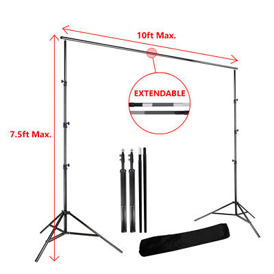 7.5ft x 10ft Photography Photo Musiln Backdrop Background Stand w/ Carrying Bag