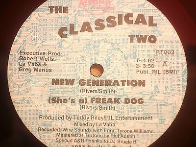 """The Classical Two - New Generation 12"""" Monster Rap 1987 Ex"""
