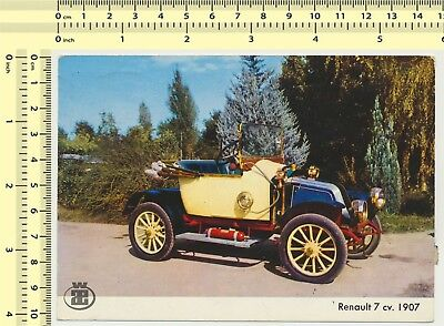 #010 Renault 7 cv. 1907, Old-timer Automobile Car vintage original postcard