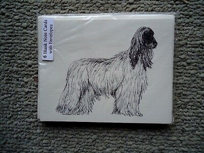 Afghan Hound Dog 18 Blank Notecards with Linen Style Envelopes New