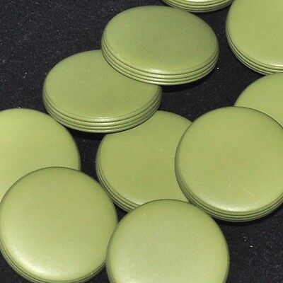 Mercerie lot de 5 boutons palets plastique vert 26mm button