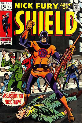 "NICK FURY AGENT OF SHIELD #15 G, 1st Bullseye, ""Death"" Fury, Marvel Comics 1969"