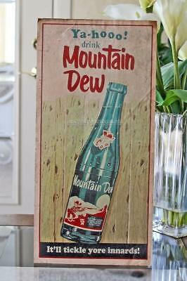 Vintage 1960's YA-HOO! MT. MOUNTAIN DEW BOTTLE PAPER STORE WINDOW SIGN #3