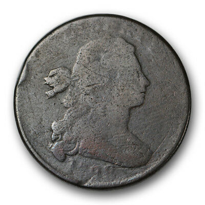 1798 Draped Bust Large Cent About Good AG US Coin Hair Style 2 #10305